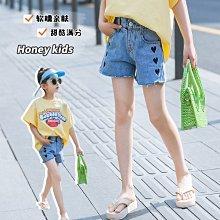 小圖藤童裝~~~中大童~~~女童牛仔短褲夏装2021新款高腰夏季女孩熱褲(A3656)