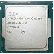 Intel Pentium G3260 雙核CPU〈 1150腳位/ 3.3G / 3M 快取、內建顯示〉附原廠風扇