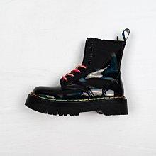 Dr. Martens 1460 8孔 黑色 漆皮 鐳射 厚底 短筒 經典款 馬汀靴 女鞋