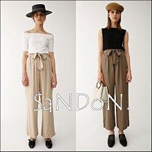 SaNDoN x『MOUSSY』 法式綁帶人造絲禮物絲綢感直筒寬褲SLY  EMODA 韓妮 180517