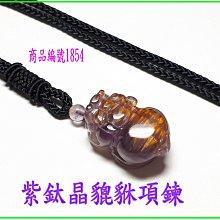 可享95折【紫鈦晶貔貅項鍊】編號1854  貔貅專賣 金鎂藝品店