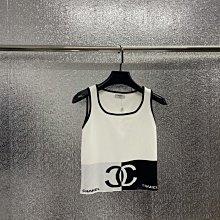 Chanel 香奈兒 百搭的 背心 經典黑白 夏季必備的百搭神器哦,尺寸長42cm