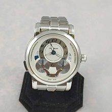 順利當舖 Montblanc/萬寶龍 稀有萬寶龍43MM大錶徑頂級新款尼可拉斯多功能計時透背機械錶款