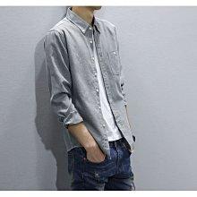 牛津紡襯衫 男 白襯衫 長袖襯衫 修身 休閒襯衫 大襯衫 男士長袖襯衫 商務男士潮流襯衣 簡約 質感 素色