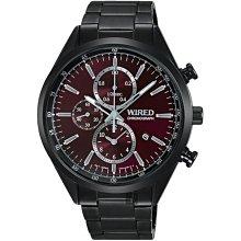 WIRED 酷炫三眼計時腕錶(AY8018X1)-藍x鍍黑  7T92-0SM0B