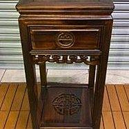 仿古傢俱【樂居二手家具】ZM1221BJJC全新一抽花架*實木洽談桌椅休閒會議桌椅泡茶桌椅 書桌椅 辦公桌椅 會議桌