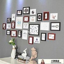 照片墻裝飾房間相框自粘貼免打孔相片墻貼掛墻北歐ins風組合21-LE小琳商店