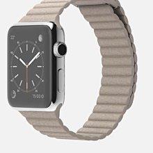^_^東京直遞 apple watch 42mm不鏽鋼版 皮革錶環 石紋皮革磁扣錶帶20000元就賣