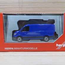 宗鑫 Herpa H095853 MAN TGE Kasten Flachdach 小巴士 深藍