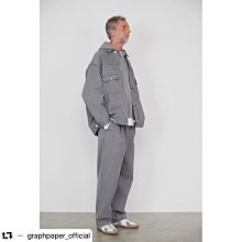Graphpaper 2020SS Colorfast Denim Belted Pants 灰