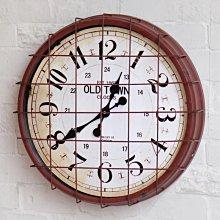 【 一張椅子 】 Loft美式工業復古做舊 掛鐘 時鐘