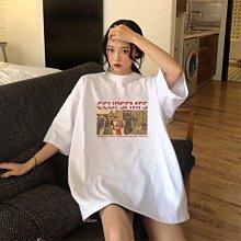 100純棉白色短袖t恤女學生韓版寬松大碼女裝ins夏季新款中袖上衣