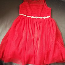 美國帶回 99新 女童耶誕紅網紗禮服小洋裝 7T