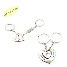 LITTLE STAR 小新星【情侶金屬鑰匙圈-一箭穿心/心鎖扣/心心相映】情人節生日表白心意婚禮小物