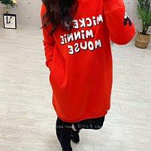 【莉莎小屋】正韓 秋冬新品(現貨) 💝韓國連線代購-可愛耳朵帽米奇米妮內毛口袋洋裝👚👖E210105