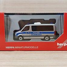 宗鑫 Herpa H095747 Mercedes Benz Sprinter 13 Bus 柏林警察 衝鋒車