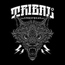 【DOOBIEST】TRIBAL  WOLF – MEN'S T SHIRT