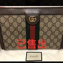 二手極新Gucci紅綠款斜背鏈包