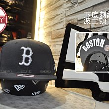 New Era x MLB BOS RED SOX 9Fifty Under Visor深灰色波士頓紅襪隊下底刺繡後扣棒