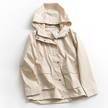 BEFE時尚精品 秋季薄款 簡約純色口袋連帽拉鍊外套