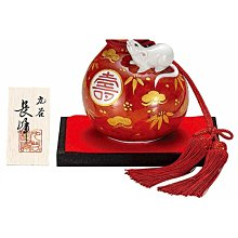 ※龍貓共和國※日本製《2020年干支子年九谷燒 日式 彩繪葫蘆福壽 赤金 陶瓷招財鼠 招錢鼠化太歲》 擺飾新年禮物