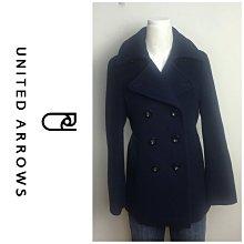 【皮老闆二店】樂448 二手真品 狀態良好 UNITED ARROWS 保暖外套 羊毛外套 毛氈