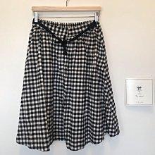 正韓 黑白格紋圓裙 鈕扣拉鍊版型 made in Korea 韓國製F size 優雅美麗