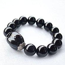 ☆采鑫天然寶石☆~禦~** 頂級 黑碧璽圓珠造型手鍊~
