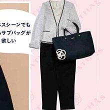 [瑞絲小舖]~日雜MOOK附錄CLATHAS山茶花圖案提袋 托特包 手提包 單肩包 購物袋