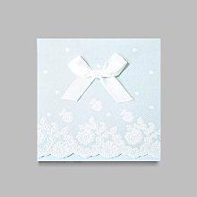 W1133 夕霧幻藍蝴蝶結浮雕白紗紋 邀請函- 歡迎切貨議價!