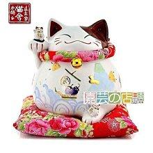 貓舍道樂堂本鋪 右寶船 日本招財貓擺件陶瓷招財貓儲蓄罐開業家居 開運招財貓