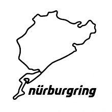 紐柏林原裝正品貼紙 8cm Nurburgring original product