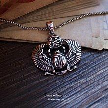 荷魯斯之眼聖甲蟲925純銀墜子(神秘符號/眼睛/埃及/金字塔)(T-PD449)現貨【Ewin 創物】