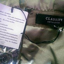 CLASSIFY 香檳墨金高腰裙(52)