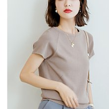 YOHO 針織衫 (SDP2076) 實拍露背鏤空冰絲針織衫 短袖上衣 有3色 M-L