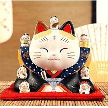 日本藥師窯 七福神 招財貓 大號 手工陶瓷擺件 生日開業 喬遷 結婚禮物 日本招財貓 新年禮物
