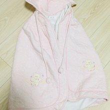 ☆╮PRiNcEsS-Mine╭☆粉色小熊嬰兒斗篷 兒童大包巾╭☆非奇哥 why&1/2 absorba polo 麗嬰房