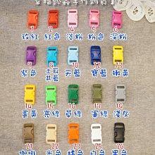 【幸福瓢蟲手作雜貨】20色選~1cm(內徑)塑膠插扣/扣具/寵物項圈/背包織帶扣頭/塑鋼/插釦(1包=4入)