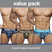 ADDICTED AD889P 3PCS TROPICAL MESH BRIEF 三角內褲 超值三件組【G-Punch】