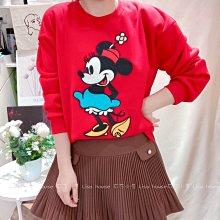 【莉莎小屋】正韓 秋冬新品(現貨-紅色) 💝韓國連線代購-俏麗米妮內毛上衣👚👖TS210110
