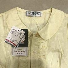 常春藤童裝 鵝黃色襯衫  SIZE 6號 100-110cm. 全新 售250元