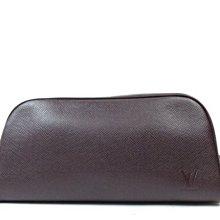 LV LOUIS VUITTION  化妝包 手拿包 盥洗包 taiga 多用途包 vintage 旅行包