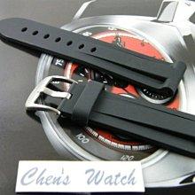 【錶帶家】26mm 代用Panerai錶帶 沛納海錶帶 ORIS 高級PU膠錶帶不沾毛屑