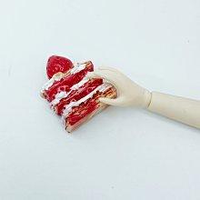 芭比 娃娃 下午茶 草莓拿破崙 愛心蛋糕 蛋糕 食玩 家家酒 樹脂 小布 莉卡 袖珍 迷你 配件