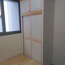 戀戀小木屋 粉色款  三尺半收納床及 衣櫃 客製款