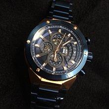 【小川堂】7984 賓馬 BALMER 新穎 時尚 切角 寶藍 玫瑰金 大B 男錶 多功能 三眼 實心 鋼帶 手錶 防水