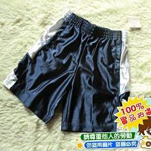 ❤厤庭童裝舖❤最後一件【F095】帥氣運動風亮面深藍色五分褲/短褲(5T)
