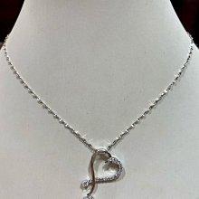總重88分天然鑽石項鍊,獨特設計款式超值優惠價82000元,加送14K金項鍊,愛心造型豪華大氣款,鑽石超白,主鑽63分
