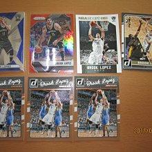網拍讀賣~Brook Lopez~湖人隊球星~羅培茲~SPEXTRA藍亮限量卡/125~橘亮限量卡/49~普特卡~共7張