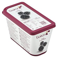 BOIRON 保虹 冷凍黑莓果泥(含糖) - 1kg (便利商店郵局無寄送; 需冷凍配送) 穀華記食品原料